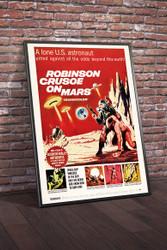 Robinson Crusoe on Mars 1964 II Movie Poster Framed