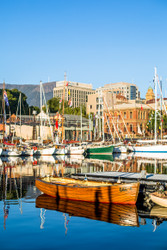 Hobart Wharf on A Sunny Morning by Andrew Wilson Seascape Print