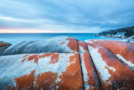 Twilight At The Bay Of Fires  by Andrew Wilson Seascape Print