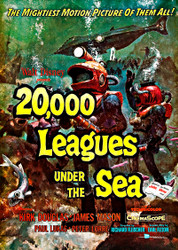 20000 Leagues Under The Sea Buena Vista 1954 Movie Poster