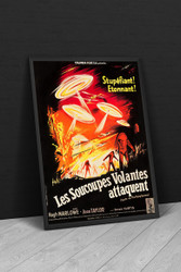 Earth Vs The Flying Saucers Columbia 1956 French Movie Poster Framed