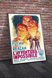 Desperate Journey 1950 Italian Movie Poster Framed