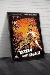 Tarzan And The Huntress 1960s German Movie Poster Framed