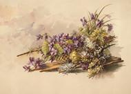 Floral Arrangement With Violets by Auguste Schmidt Floral Print