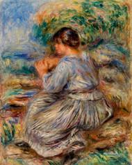 Pierre Auguste Renoir- Girl Seated in a Landscape