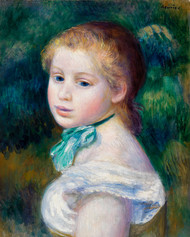Pierre Auguste Renoir- Head of Young Girl