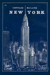 Blueprint New York Chrysler Building