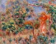 Pierre Auguste Renoir - Woman in Red a landscape