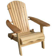 Folding Adirondack Chair for Patio Garden in Natural Wood Finish MGFAC6994