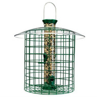 Wild Bird Feeder with Domed Cage in Green DYGWB7219