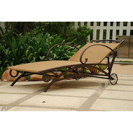 Resin Wicker / Steel Multi-Position Chaise Lounge Chair Recliner VRWSFCL218