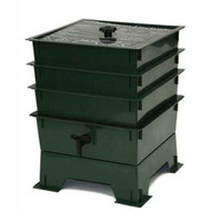 3-Tray Worm Composter - Worm Compost Factory in Green WF3TWCDG7995