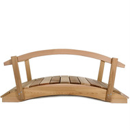 4-Ft Cedar Wood Garden Bridge with Rails in Natural Unstained Finish FGB5418461