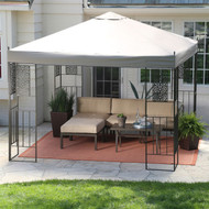 10-ft x 10-ft Backyard Patio Garden Gazebo with Steel Frame and Vented Canopy GBCSF935281