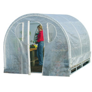 Polytunnel Hoop House Style Greenhouse (8' x 8') PTHSG8X8