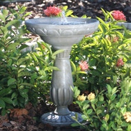 Outdoor Solar Fountain Bird Bath in Fade Resistant Resin with Solar Pump SWF518961588