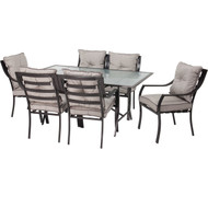 7-Piece Outdoor Patio Furniture Metal Dining Set with Cushions H418418654