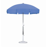 7.5 Foot Patio Umbrella with Push Button Tilt in Royal Blue Olefin CU75P5799