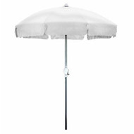 7.5 Foot Patio Umbrella with Push Button Tilt in White Olefin CU75W5799