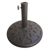 17.6 lb Sturdy Outdoor Resin Umbrella Base in Grey Black FInish W3137UP