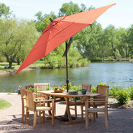 11-Ft Patio Umbrella with Brick Red Canopy and Metal Pole BRPU6987136