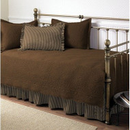 Chocolate 5-Piece Daybed Set with Quilt, Shams, and Bed Skirt SCT5PC677