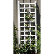 6.25 Ft Wall Trellis in White Vinyl - Made in USA DTPW4781485