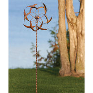 Copper Plated Metal Wind Spinner Stake for Outdoor Yard Garden AGFS8549851