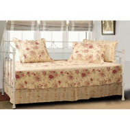 Antique Rose Quilted Daybed Cover Bedding Ensemble Set GHARQDS510