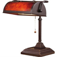 Classic Style Bankers Lamp with Mica Shade Table Desk Lamp NL42871-4
