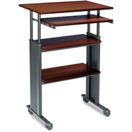 Adjustable Height Stand Up Computer Desk Workstation in Cherry SMSUAH26198