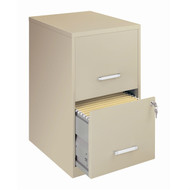 Locking 2-Drawer Vertical File Cabinet in Putty Color C2DVP6341
