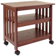 Mission Style Wooden TV / Printer Stand Cart in Chestnut Finish MWTSPC15564