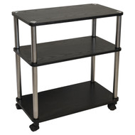3-Shelf Mobile Home Office Caddy Printer Stand Cart in Black DTGC4516