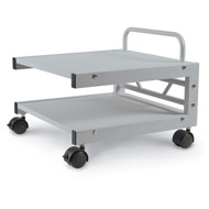 Low Profile Printer Stand with Bottom Paper Shelf and Locking Casters BLPS83801