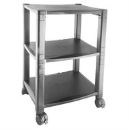 3-Shelf Mobile Printer Stand with Organizer Drawer in Black KMPS63914