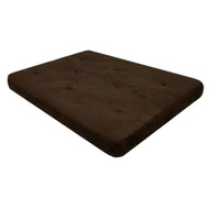 Full-size 6-inch Thick Futon Mattress with Chocolate Microfiber Futon Cover DHP6INCF99-4