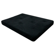 Full-size 6-inch Thick Futon Mattress with Black Microfiber Futon Cover DHP6INFM119-4