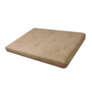 Full-size 6-inch Thick Comfort Coil Futon Mattress with Tan Futon Cover DHP6INTF991-4