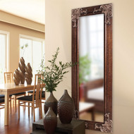 """Full Length 63"""" Wall Mirror with Quality Wood Frame/Antique Silver Gold Accents FLWM5819841-4"""
