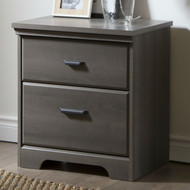 2-Drawer Bedroom Nightstand in Gray Maple Wood Finish VTDNS58198151