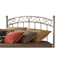 Twin size Arched Metal Headboard with Scroll Detail and Solid Castings FBGT9788