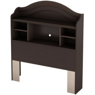 Twin size Arch Top Bookcase Headboard in Chocolate Finish STHG1250
