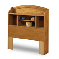 Twin size Arched Bookcase Headboard in Country Pine Finish TPBHC13035