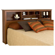 King size Bookcase Headboard with Adjustable Shelf in Cherry Finish KMBH23199