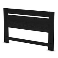 Full/Queen size Contemporary Headboard in Black Oak Finish SPFQBOH7110