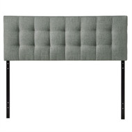 King size Grey Fabric Modern Button-Tufted Upholstered Headboard KGFUG9847512