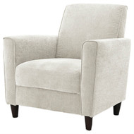 Contemporary Upholstered Arm Chair with Espresso Wood Legs in Ivory EAC518941561