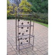 Cast Iron Bakers Rack with Grape Vine Design in Antique Bronze OLABSV13787