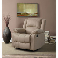 Beige Microfiber Upholstered Recliner Chair WLCR51981-4